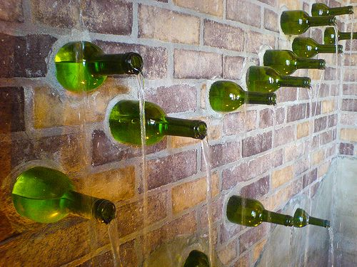 Wine Bottle Fountain | Flickr - Photo Sharing!