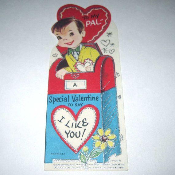 85 best Vintage valentine Cards  Mail images on Pinterest