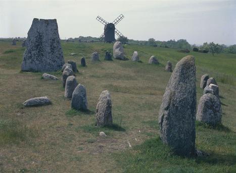 Viking stone ship at Gettlinge, Öland, Sweden.