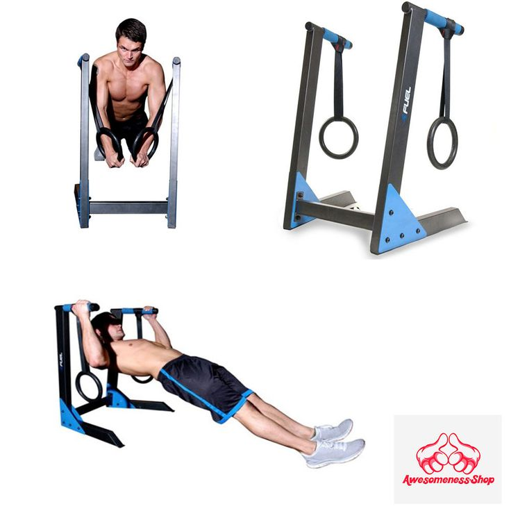 DIP STATION EXERCISE EQUIPMENT Pull Chin Push Up Bar Tower Fitness Workout Gym  #FuelPureformance