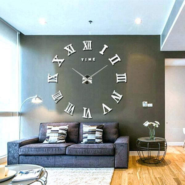 Contemporary Wall Clocks Large Inch Wall Clock Oversized Rustic