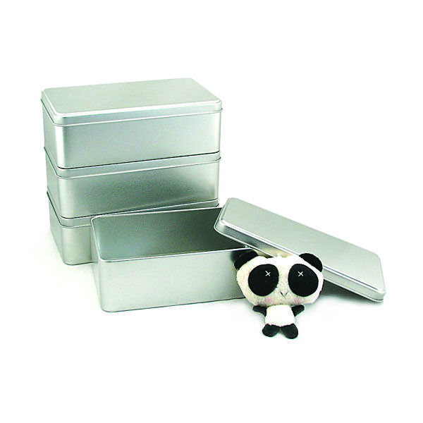 This silver plain metal storage tin container made of first grade sandblast tinplate looks simple but not cheap. With it, you can keep your office desk tidy.re