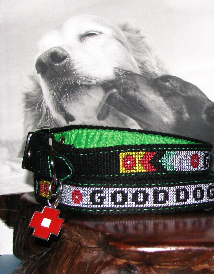Dog Collars:Display Collars on textured merchandise and ...