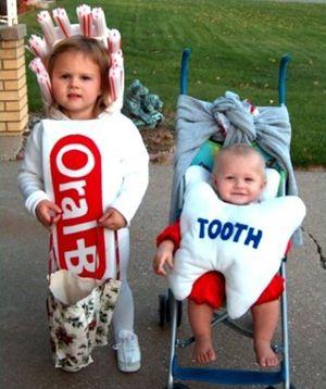Déguisement - La brosse et le dentifrice