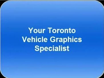 This is a video url to promote a sign company for vehicle graphics in Toronto.