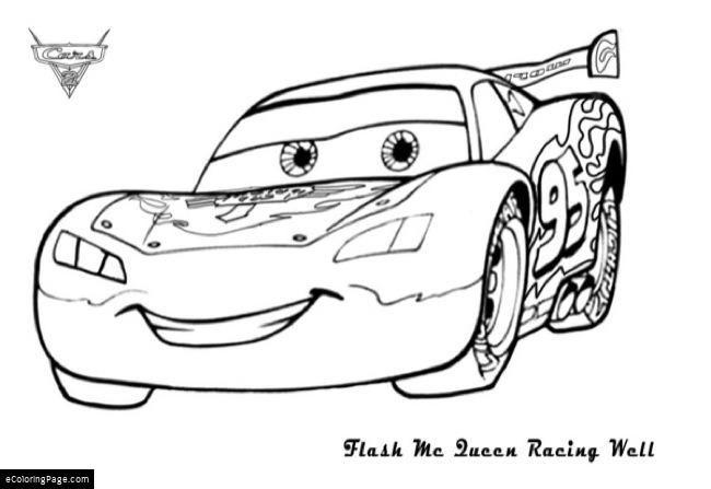 Disney Pixar Cars Lighting Mcqueen Printable Coloring Page Cars Coloring Pages Race Car Coloring Pages Coloring Pages