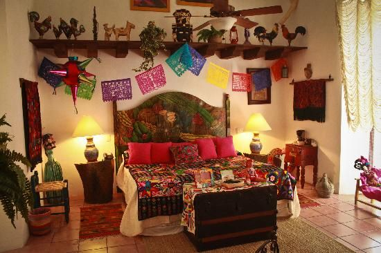 Hermosisima recamara decoracion mexicana pinterest for Ver decoraciones de casas