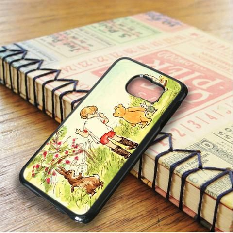 Winnie The Pooh Illustration Samsung Galaxy S6 Edge Plus Case