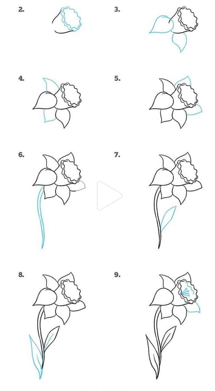 1001 Pomysly I Cwiczenia Dla Latwego Kwiatow Wyciagnac Zdjecia In 2020 Cute Flower Drawing Flower Drawing Tutorials Flower Drawing