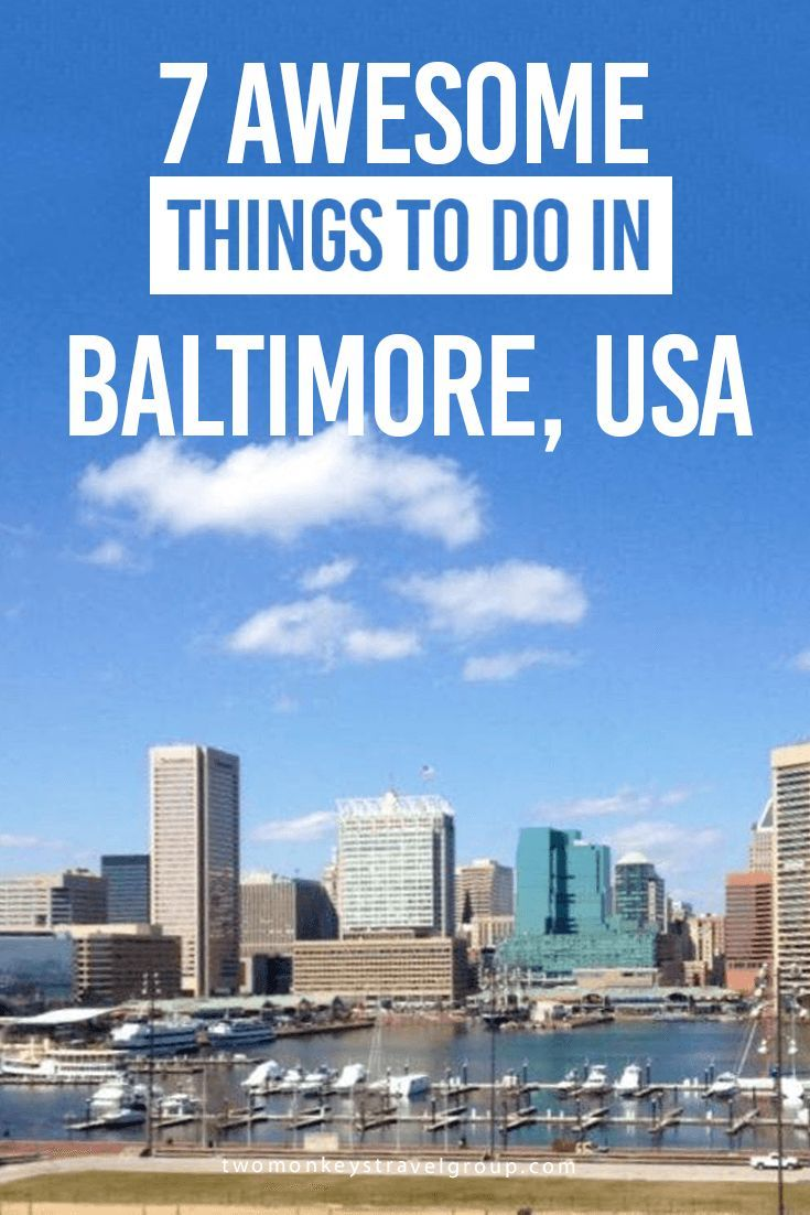 7 Awesome Things to Do in Baltimore, USA Baltimore is HUGE on sports. It's an essential part of the city's culture and people take their sports teams very seriously in Baltimore. The people bleed orange and white in the summer and black and purple in the winter. If you want to get taste of Baltimore culture, this is a great way to do just that.
