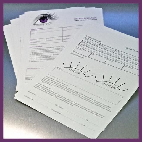 Add a touch of professionalism to your eyelash extension treatment with these aftercare leaflets. Order online and start using them with clients in no time!