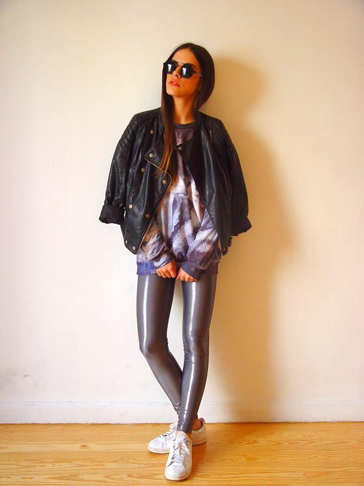 The grey glitter PCP leggings