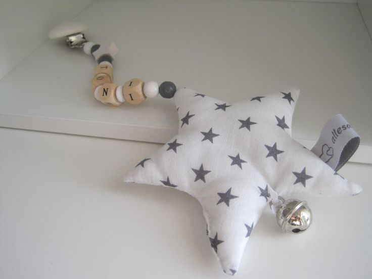 Ein Stern der Deinen Namen trägt Kinderwagenkette von *allesausliebe* auf DaWanda.com