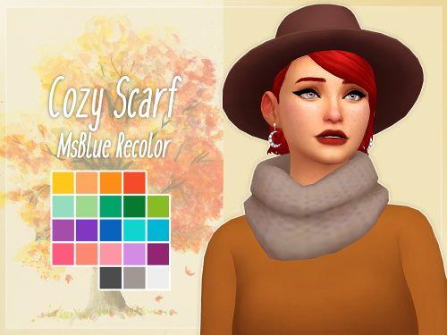 Cozy Scarf at Nolan Sims via Sims 4 Updates