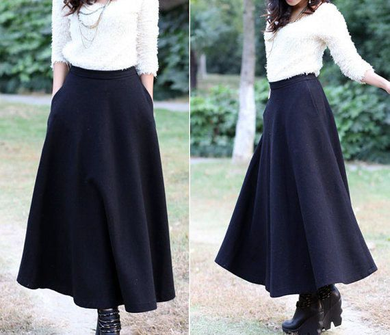 17 Best ideas about Maxi Skirt Winter on Pinterest | Long skirt ...