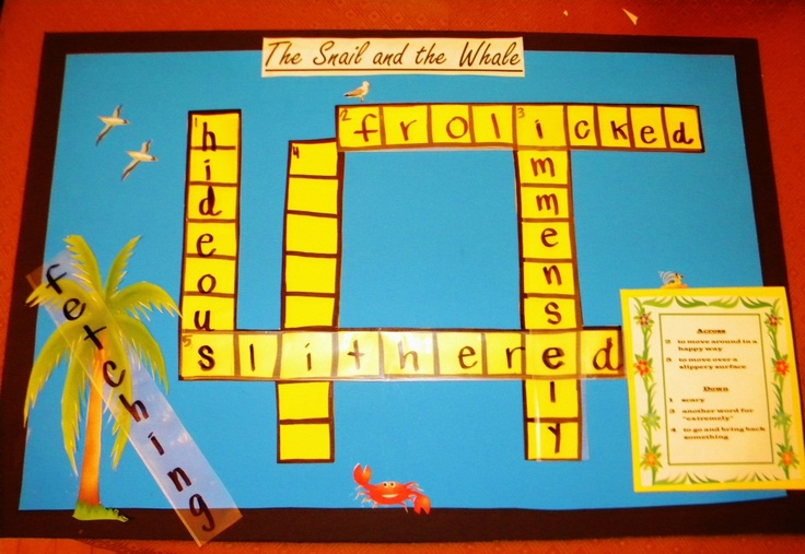The Snail and the Whale vocabulary group activity