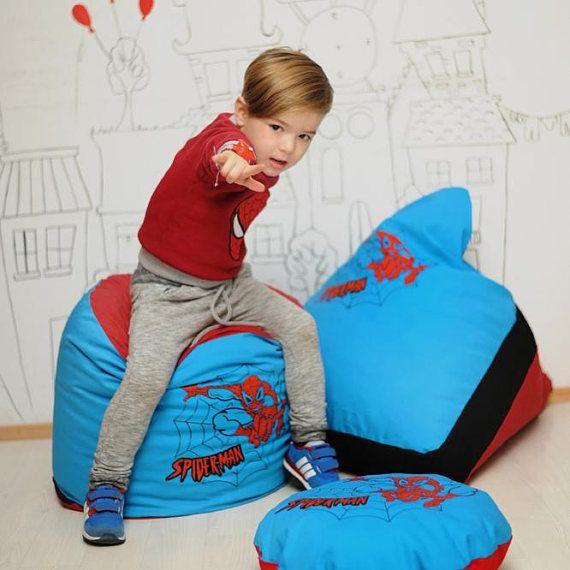Buy Kids Superhero Cylinder Pouf Cover Batman Superman Spiderman Frozen At Online Store