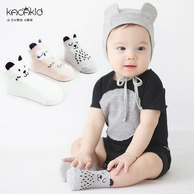 DHL EMS Free Shipping lovely Baby Girls Infants Socks Soft Cotton Mouse Owl Korea Style Infants Baby Wear 3 Colors Baby Socks