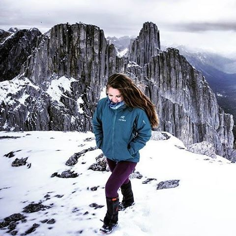 "Regram from @vvalchev: ""Check out those rocks!!! 😍 I mean, I feel like the Eye of Sauron should be hovering above #MountLouis behind me 😜 #MountEdith in winter conditions was the most fun (and the most difficult) scramble I've ever done 😁 We really had to get creative to avoid some very snowy sections and everytime we got up to one of it's three summits I didn't think we would make it up the next but we got lucky 🙌 September 25, 2016"" 📷@navthenavigator  #outdoorwomen #mybanff…"