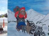 Jasmine and the dog sled ride