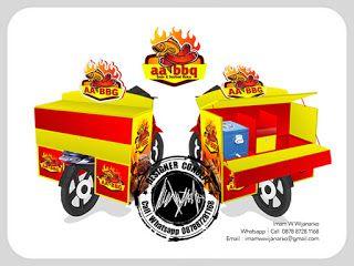 Desain Logo | Logo Kuliner |  Desain Gerobak | Jasa Desain dan Produksi Gerobak | Branding: Desain Gerobak Motor Sosis Seafood Bakar
