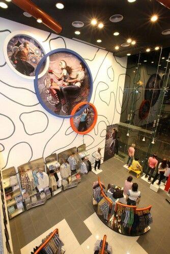 Wall treatment , store design, visual meechandising