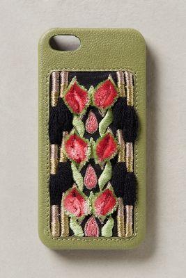 Jasper & Jeera Embroidered Petals iPhone 5 Case #anthrofave #anthropologie