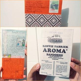 Kyaa my 1st kartu from 'beken & aktif people' di Bandung :) udah lama kepingin dikirim kartu oleh Andika dan mendadak muncul dirumah! Suka sekali! Sama-sama penggemar handmade postcard , yeay!