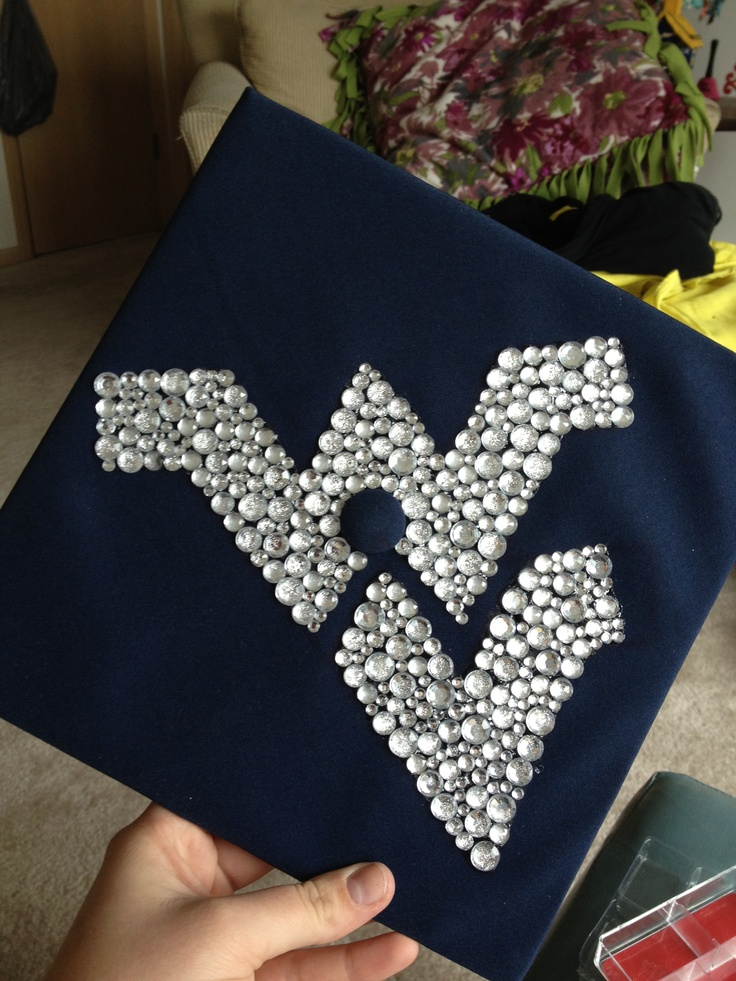 Classroom Decoration Ideas Simple ~ West virginia university inspired graduation cap