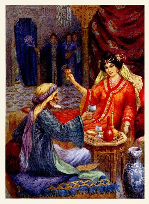 :::: ✿⊱╮☼ ☾  PINTEREST.COM christiancross ☀❤•♥•* ::::   Arabian Nights  Harry G. Theaker