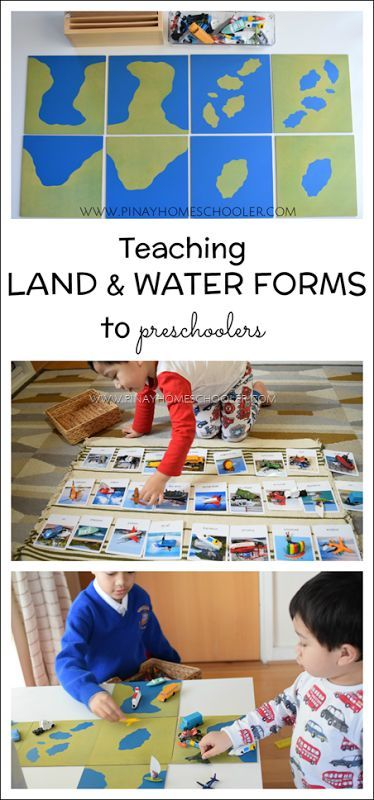 land and water forms (Montessori inspired)