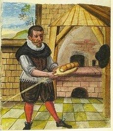 It's About Time: Illuminated Manuscripts - 1400s Craftsmen & Shopkeepers in Nuremberg, Germany  Baker