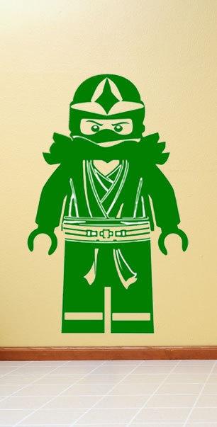 Lego Ninjago Green Ninja Llyod Minifigure Vinyl Wall Decal