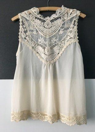 Kaufe meinen Artikel bei #Kleiderkreisel http://www.kleiderkreisel.de/damenmode/blusen/142181487-weisse-bluse-mit-spitze-in-xs
