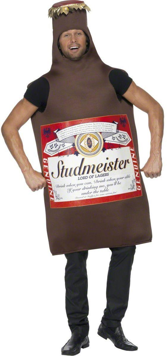 Esta noche tú invitas a las copas, con este disfraz de botellín de cerveza, ¡no hay fiesta que se te resista! Disponible en www.vegaoo.es