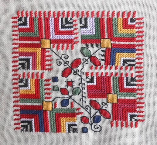 Bulgarian traditional embroidery - region Kyustendil