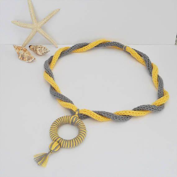 Zomer katoen ketting hand gebreide juwelen i-koord ketting