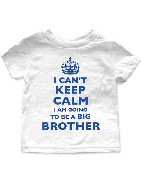 I Can't Keep Calm I'm Going To Be A Big Brother - Baby One-Piece Bodysuit, Infant, Toddler, Youth Shirt, Cute and Funny baby onesie one-piece bodysuit or infant shirt perfect for your little one or given as a gift, funny baby shirt, wallsparks, cuteandfunnykids, cute and funny kids