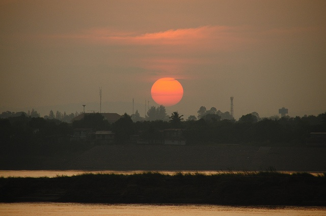 Sunset over the Mekong in Thakhek                                                                                                                                                                                 More