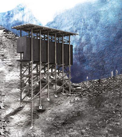 Zumthor- Miningmemorial Almannajuvet