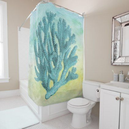 17 Best Ideas About Coral Shower Curtains On Pinterest Diy Bathroom Decor