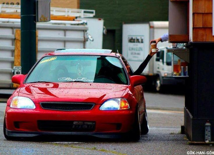 My Del Sol is slammed like this and I have to say as much as I love it, rolling up to an ATM is a pain in the neck.
