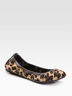 Tory Burch Leopard Eddie Haircalf Ballet Flats