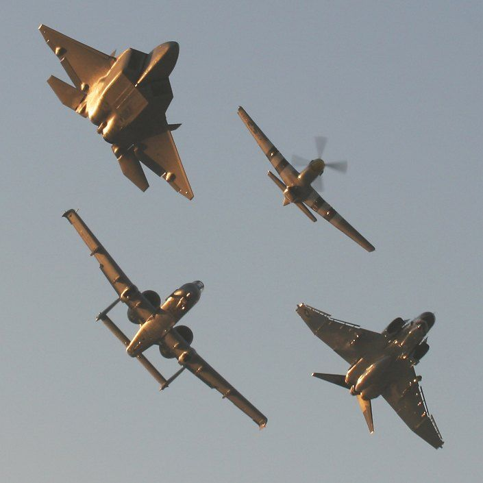 Heritage flight with my beloved Mustang and F22 Raptor