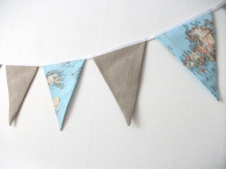 Vlaggenlijn laten maken voor op de slaapkamer van onze oudste zoon!