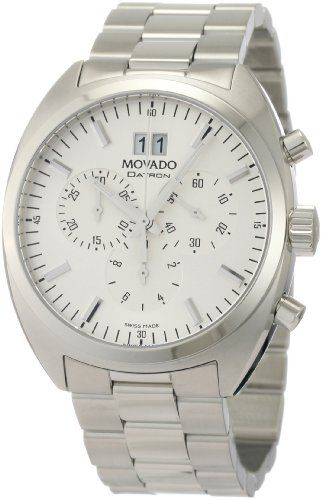 17 best images about watches cool watches movado men s 0606477 datron quartz chronograph stainless steel silver dial watch watches amazon