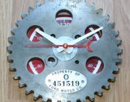 auto gear clock tool tag ford oval