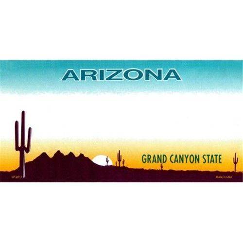 Arizona Scenic Background Novelty Metal License Plate