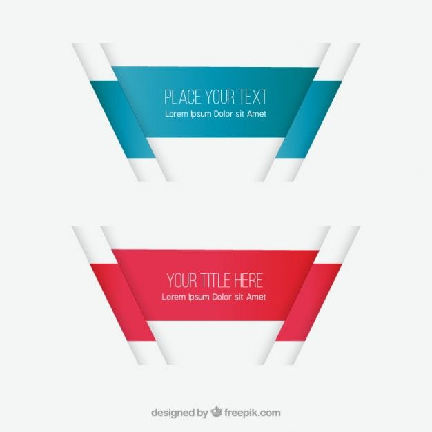 Abstract banners Free Vector