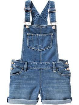 size: medium Girls Denim Shortalls | Old Navy